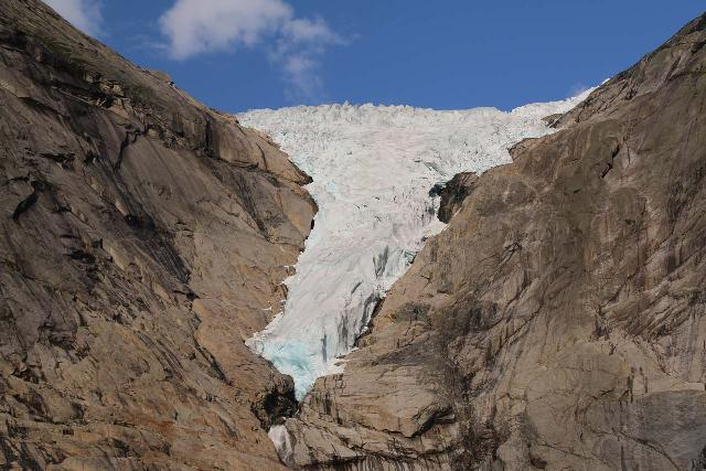 Briksdalsbreen_372_07192019 - Further south of Geiranger was the vast (but rapidly receding) ice sheets of the Jostedalsbreen Glacier. Shown here was the Briksdal Glacier as of 2019 though it shrunk dramatically from when we first saw it back in 2005