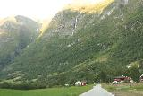 Briksdalsbreen_516_07192019 - Continuing the drive along Fv5724 north towards Olden with waterfalls and mountains decorating the margins of Oldedalen
