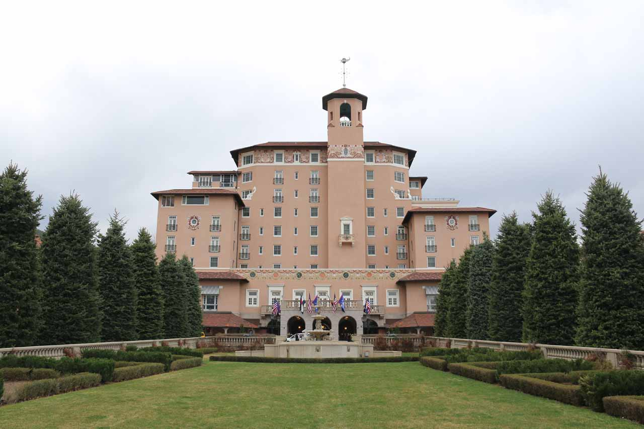 One benefit of The Broadmoor taking over Seven Falls was that the complimentary parking area allowed us to briefly check out the nice area around the hotel itself