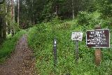 Brooks_Falls_092_04202019 - Had I done the loop in a counterclockwise manner, I would have seen these signs, which would have made it more obvious which way I was supposed to go.  The way that I did this trail, I had no signage to suggest that I was going the right way to the Brooks Falls Lookout