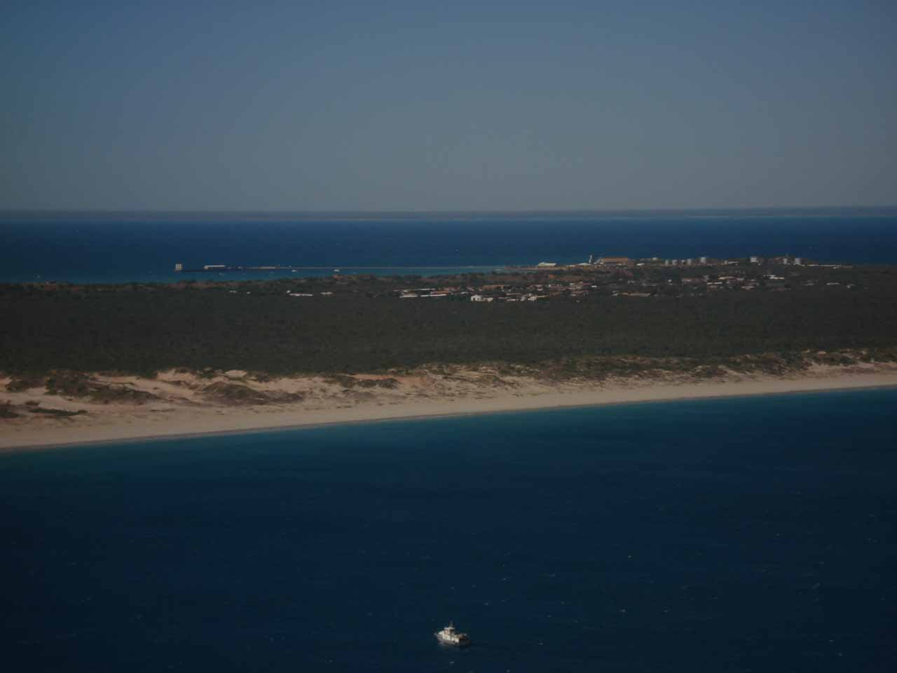 Aerial view as we were flowing somewhere close to Broome