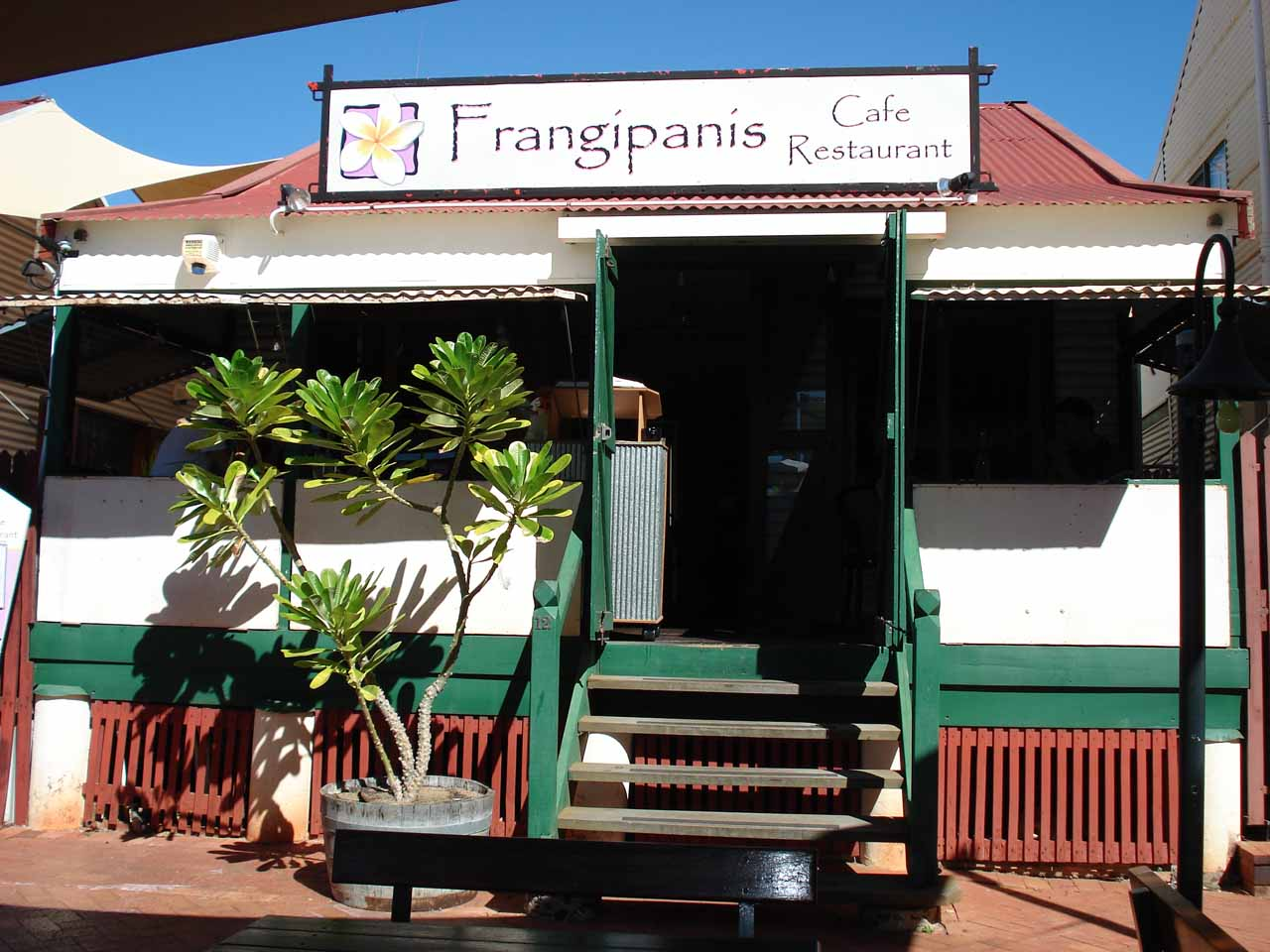 Our little lunch spot in Broome
