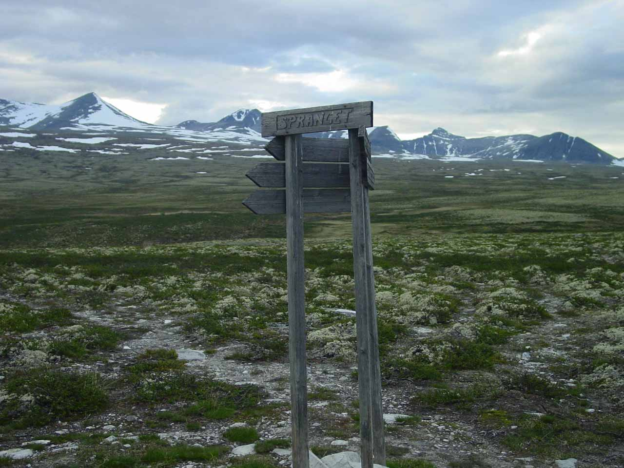 Had I seen this Spranget sign at the start, I probably could've saved another 15 minutes of hiking time