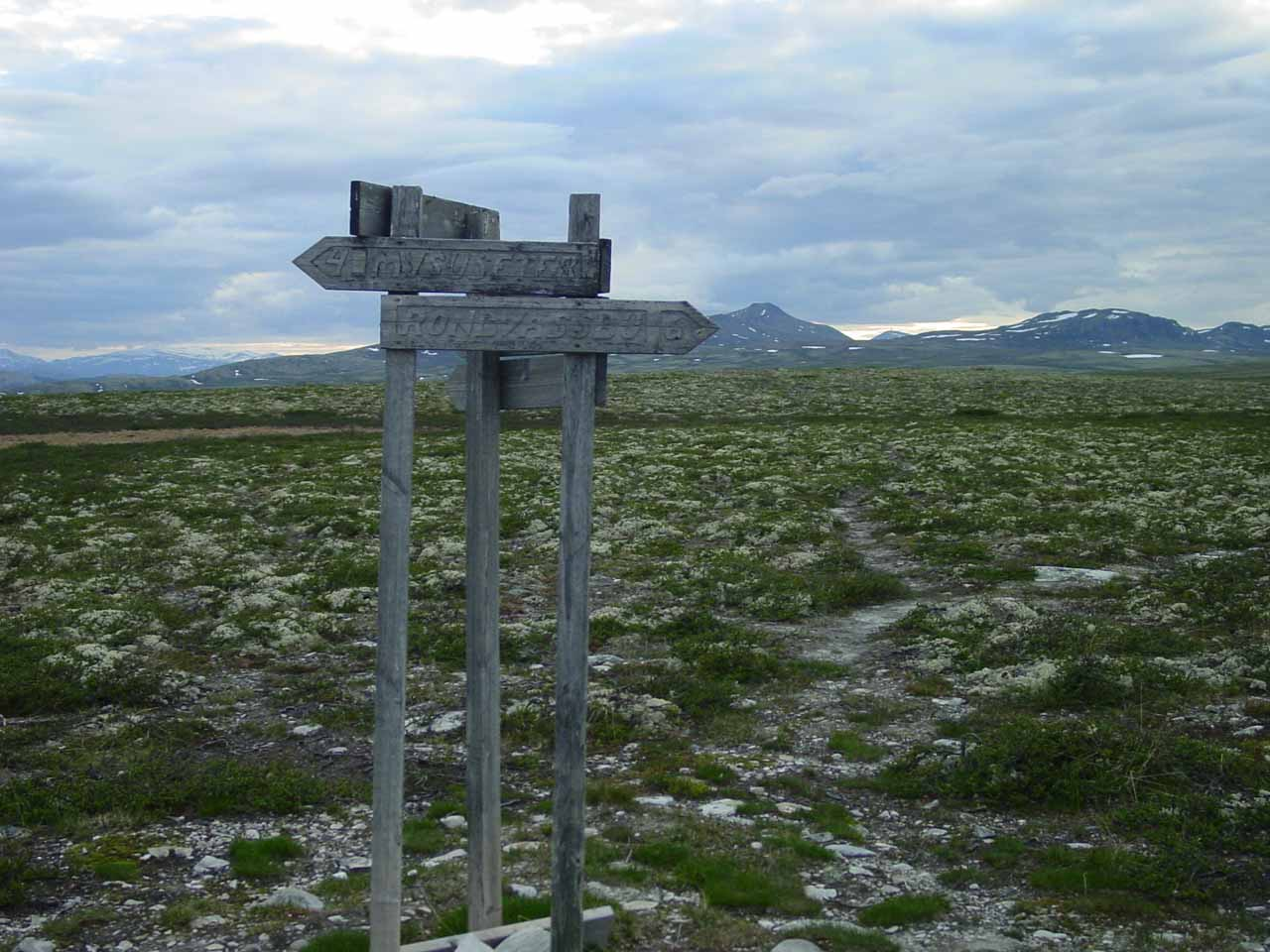 Same Spranget sign but looking in the other direction.  Notice how wide open and seemingly desolate this area was