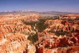Bryce_Canyon_Inspiration_Pt_014_04032018 - Looking straight down a less concentrated line of green between hoodoos as seen from Inspiration Point