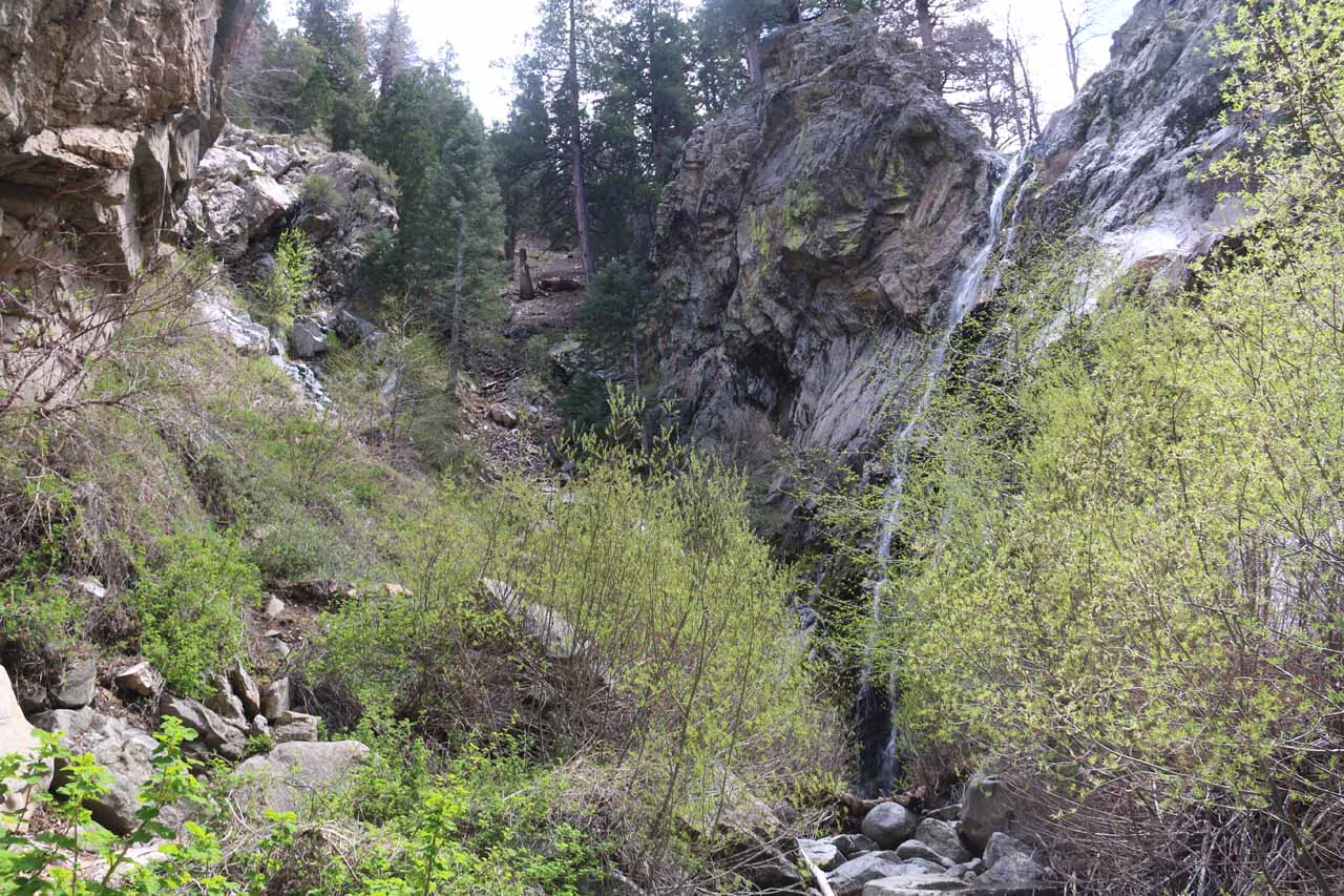 A more contextual view of the impressive Buckhorn Falls