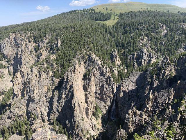 Bucking_Mule_Falls_017_iPhone_08012020 - The panorama encompassing Bucking Mule Falls