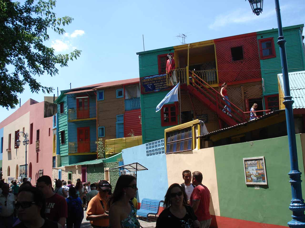 More of the colorful houses in El Caminito