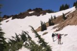 Bumpass_Hell_058_07122016 - One of the more extensive snow patches that we had to get through in order to get down to Bumpass Hell
