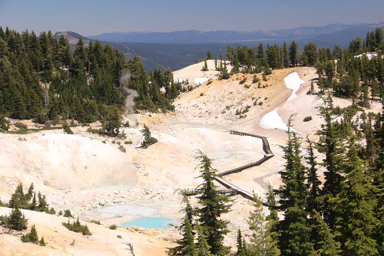 Over 3 hours drive north along Hwy 89 from Webber Falls was Lassen Volcanic National Park, which featured impressive volcanic scenery including Bumpass Hell, the park's signature attraction