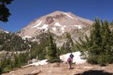 Bumpass_Hell_287_07122016 - Dad and Mom hiking with Lassen Peak directly ahead of us