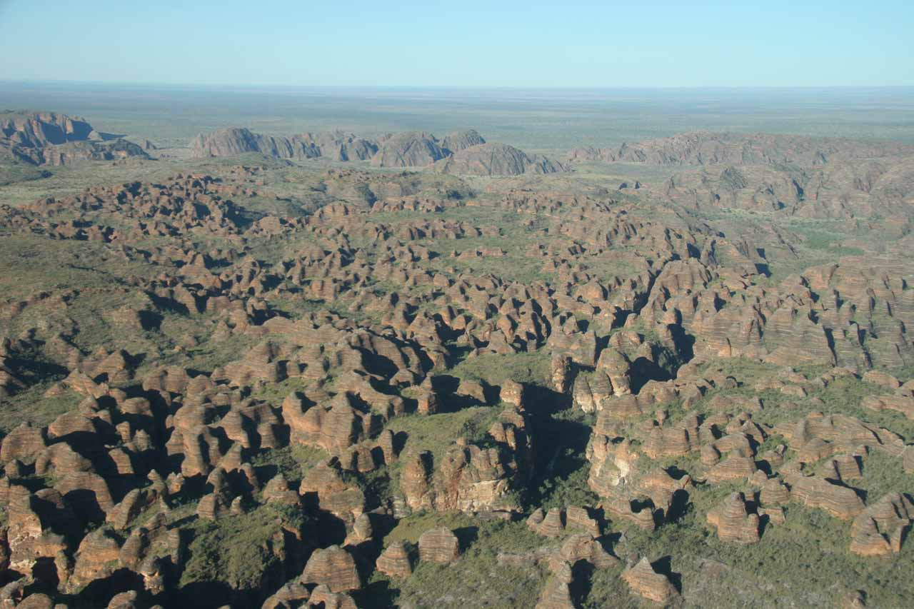 Julie was able to follow up the Mitchell Falls Explorer with a different aerial tour of the Bungle Bungles, where both tours took off from Kununurra, where we were staying