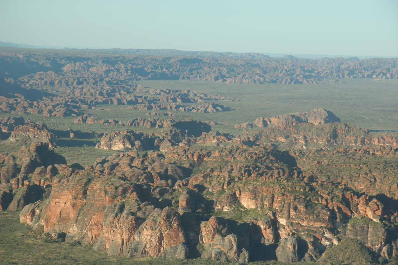 Julie was able to follow up our Mitchell Falls Explorer Tour with a separate aerial tour of the remote Bungle Bungles near Kununurra, which was the town from which both tours started