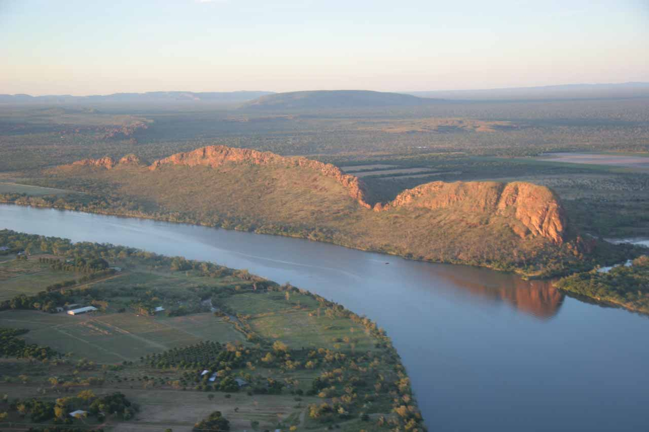 Last look at the Ord River belong Slingair landed