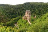 Burg_Eltz_024_06172018 - Contextual view of Burg Eltz revealing its isolated yet magical position as it was surrounded by lush green forest with a stream that snaked around it