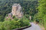Burg_Eltz_047_06172018 - Julie and Tahia walking the road leading to the main entrance of Burg Eltz