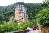 Burg_Eltz_048_06172018 - Some kind of shuttle vehicle dropping off people unwilling to do the walk to the entrance of Burg Eltz