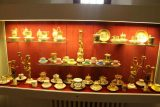 Burg_Eltz_090_06172018 - Some fancy tea cups on display at the treasury of Burg Eltz