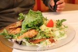 Burg_Hochosterwitz_237_07112018 - This was the fitnessteller, which was a chicken salad served up by the Gasthaus Tatzer, and it was probably the cleanest thing they had on the menu that Julie could have