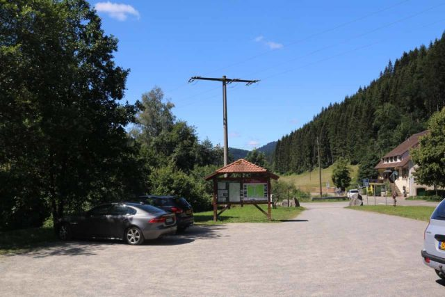Burgbach_Waterfall_002_06222018 - Looking back towards the entrance of the car park for the Burgbach Waterfall
