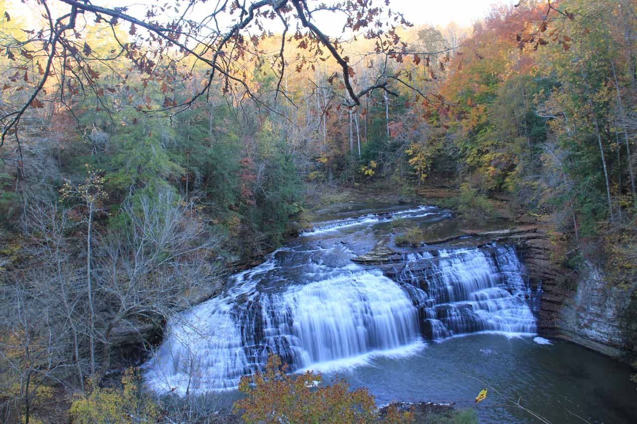 The middle falls of Burgess Falls