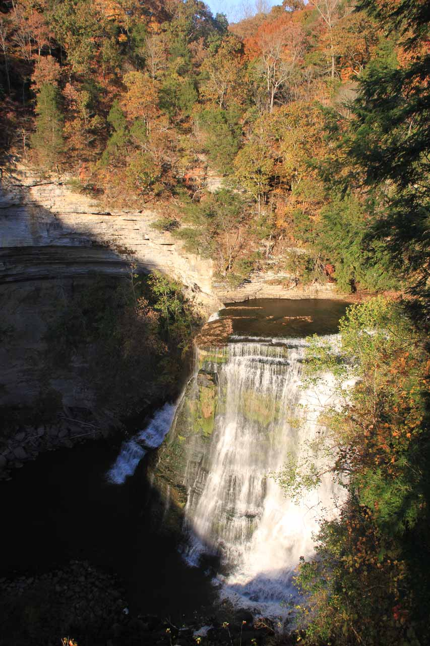 Afternoon view of Burgess Falls