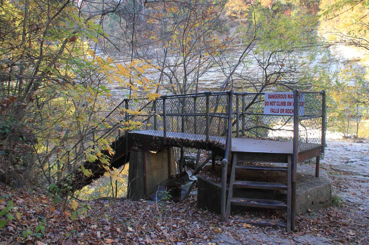 Stairs leading to the base of Burgess Falls