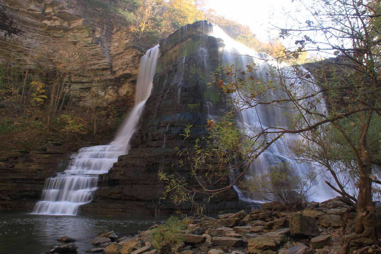 View from the base of Burgess Falls