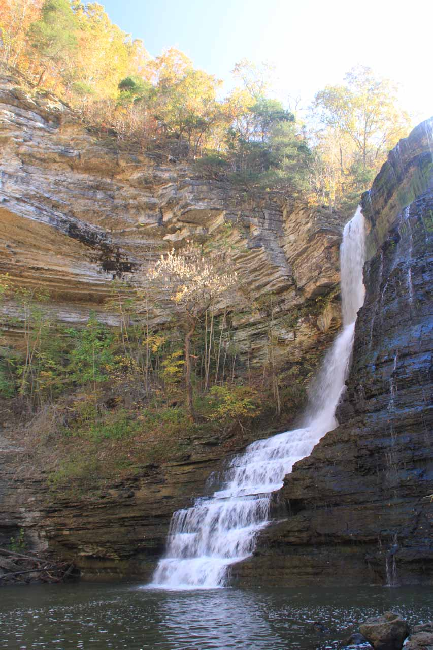 Just the thin section of Burgess Falls