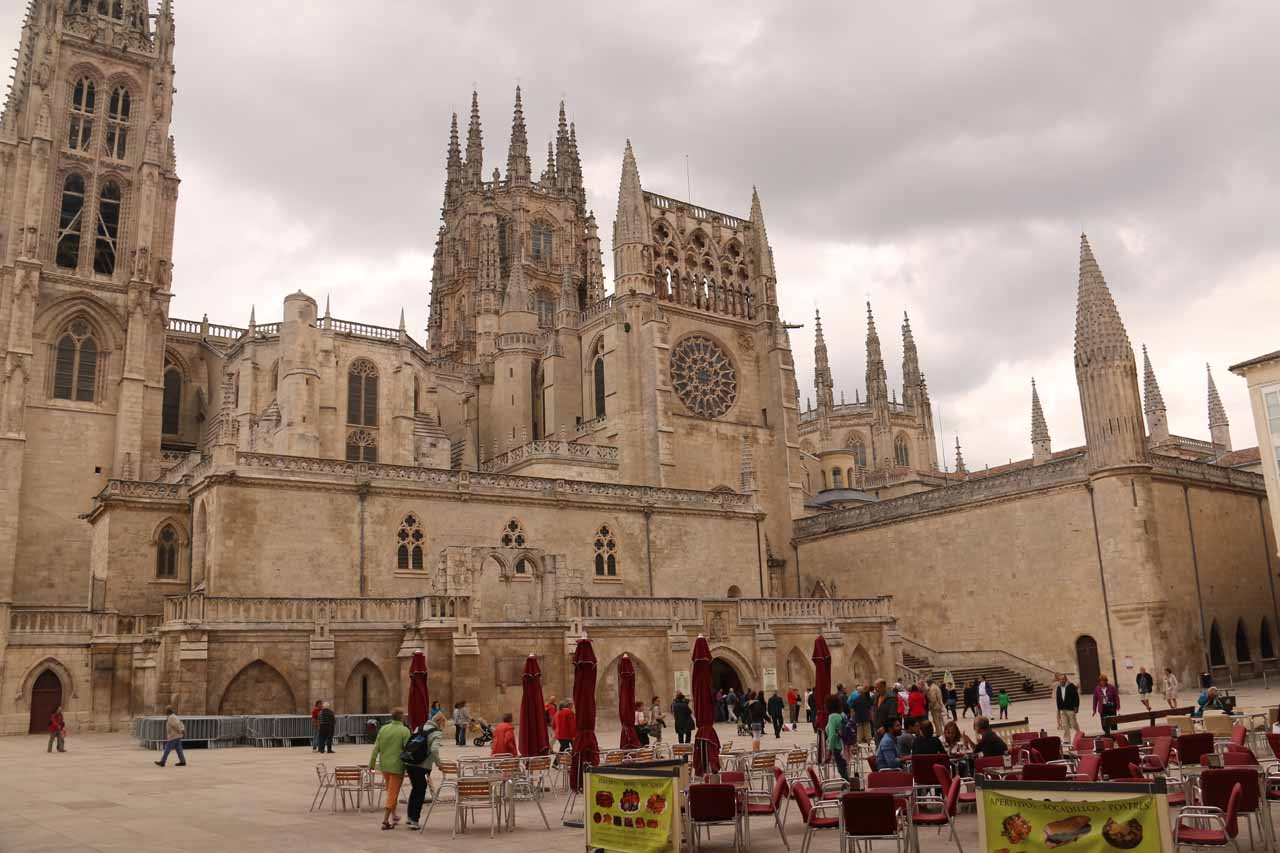 Looking over the Plaza del Rey San Fernando towards the Burgos Cathedral
