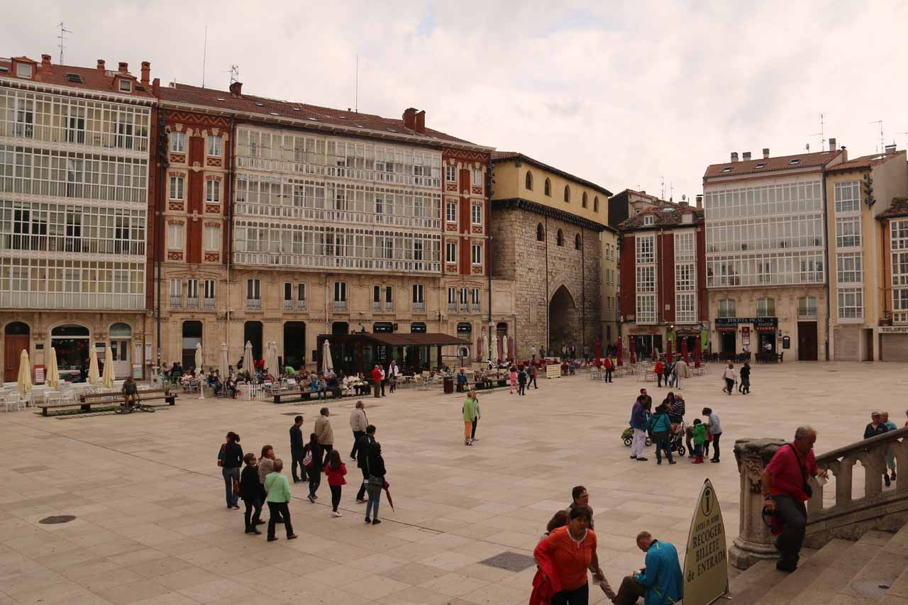 Looking across from the Plaza del Rey San Fernando away from the Burgos Cathedral