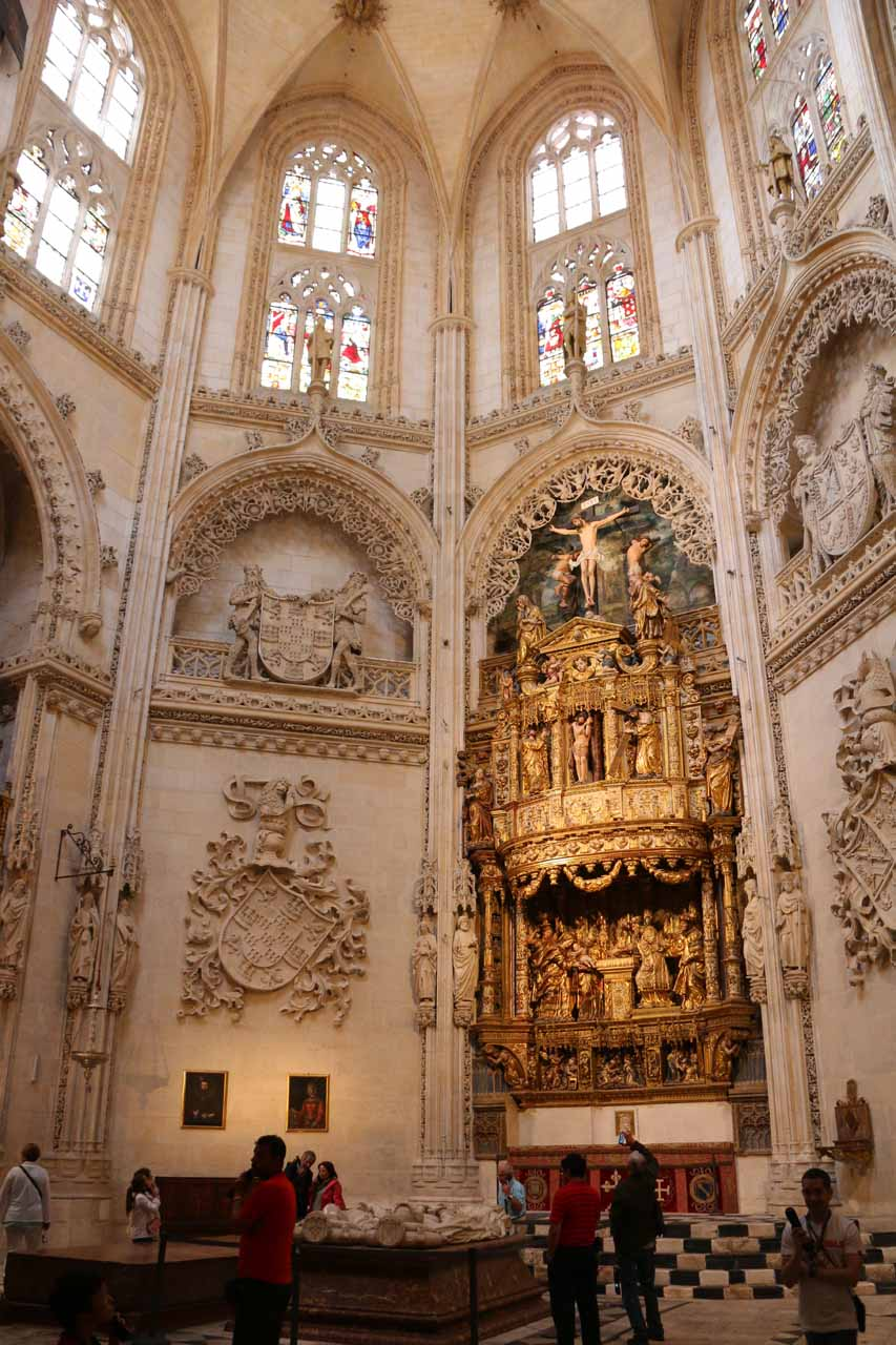 Checking out one of the side rooms of the Burgos Cathedral