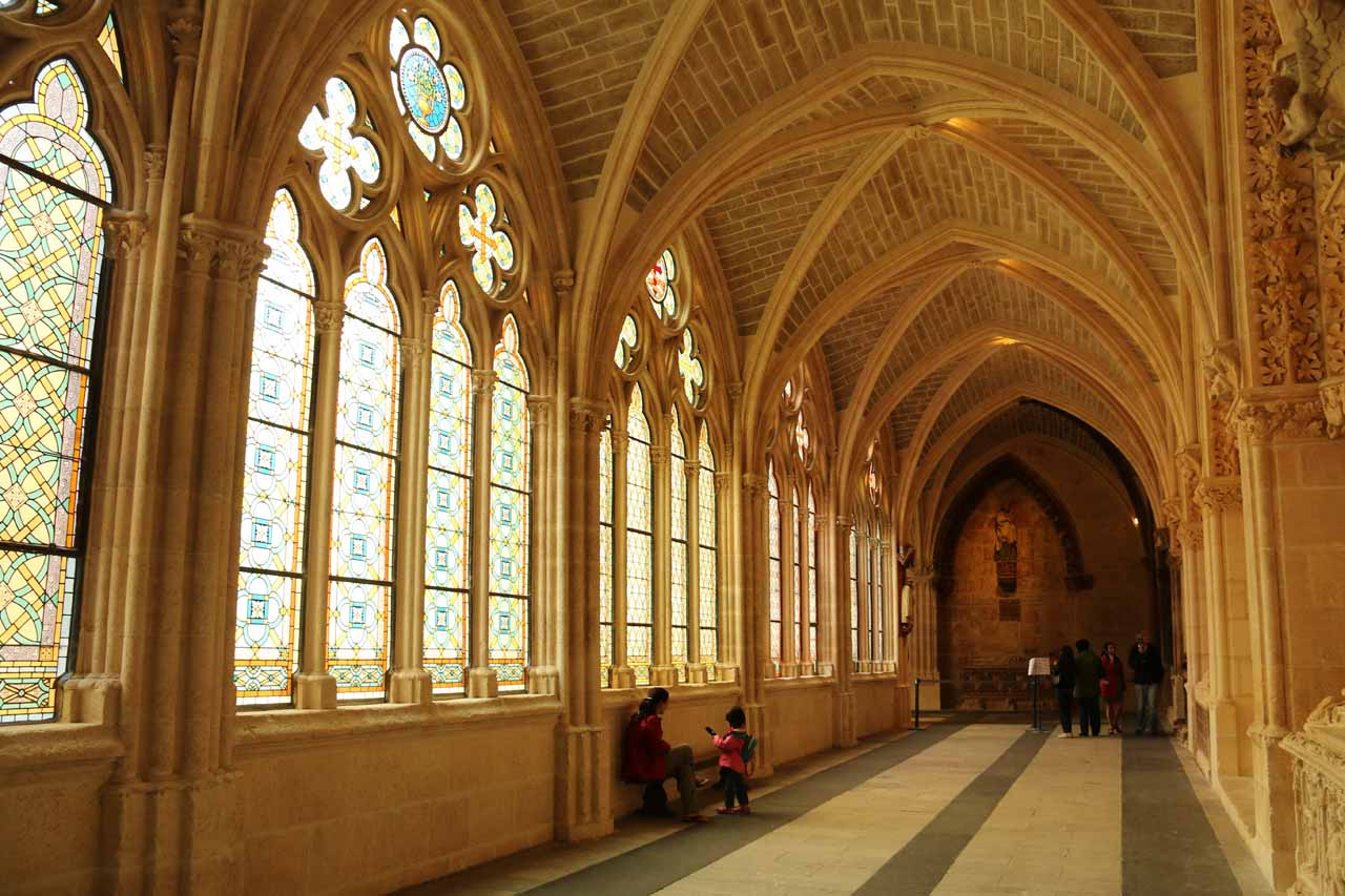 After visiting the main chapel, we then went downstairs towards some corridor beneath Burgos Cathedral