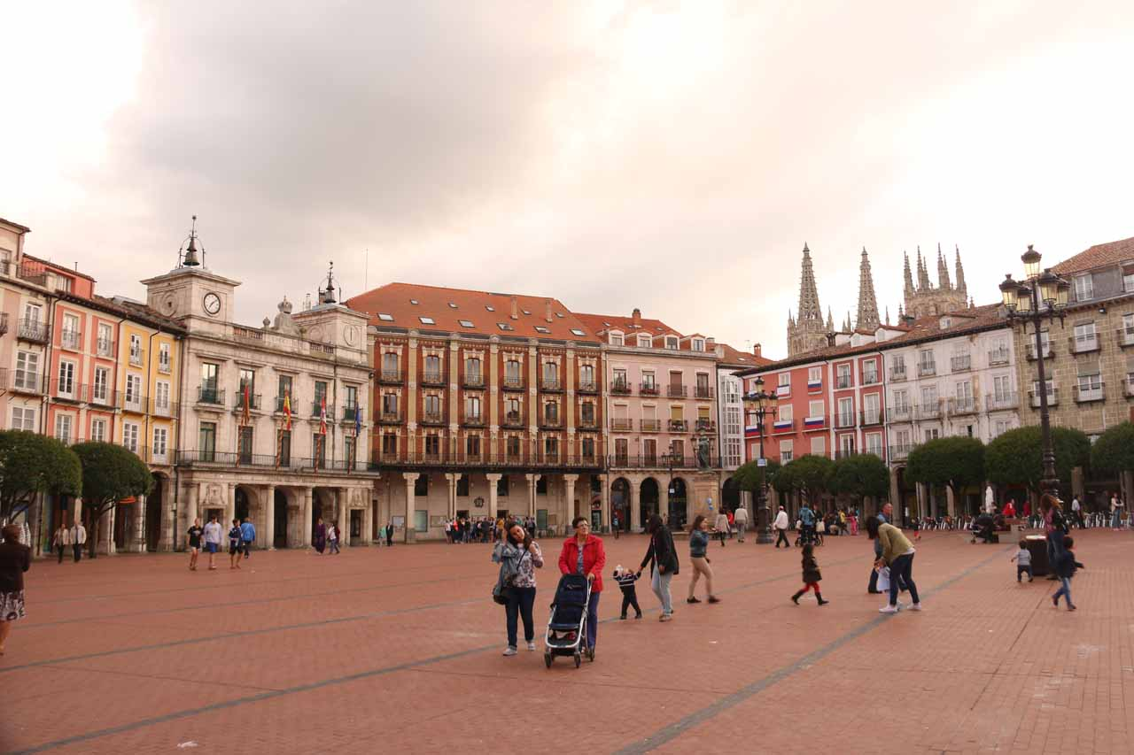 Pedrosa de Tobalina was about half-way between Burgos and Bilbao. Burgos had a charming historical center, including its Plaza Mayor seen here looking back towards the cathedral