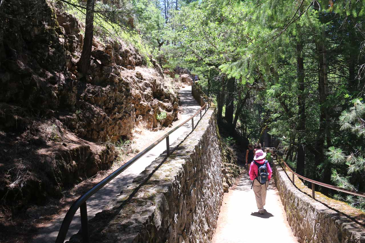 After the first switchback, the trail brought us closer to the base of Burney Falls