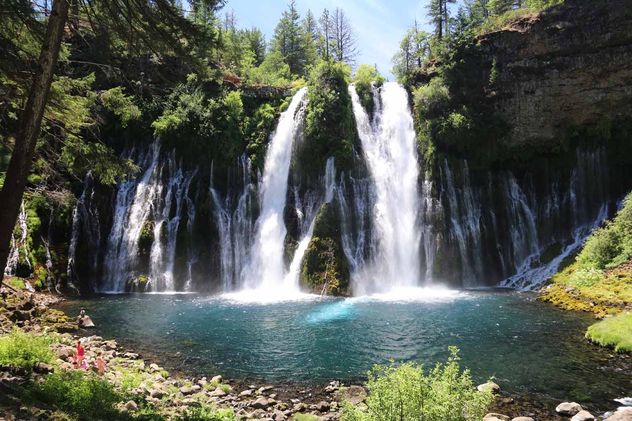 At the bottom of Burney Falls