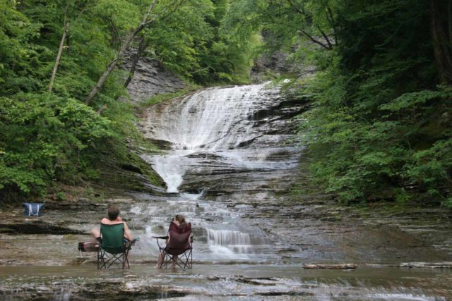 Buttermilk_Falls_024_06162007 - A pretty creative way to beat the heat of Summer at Buttermilk Falls