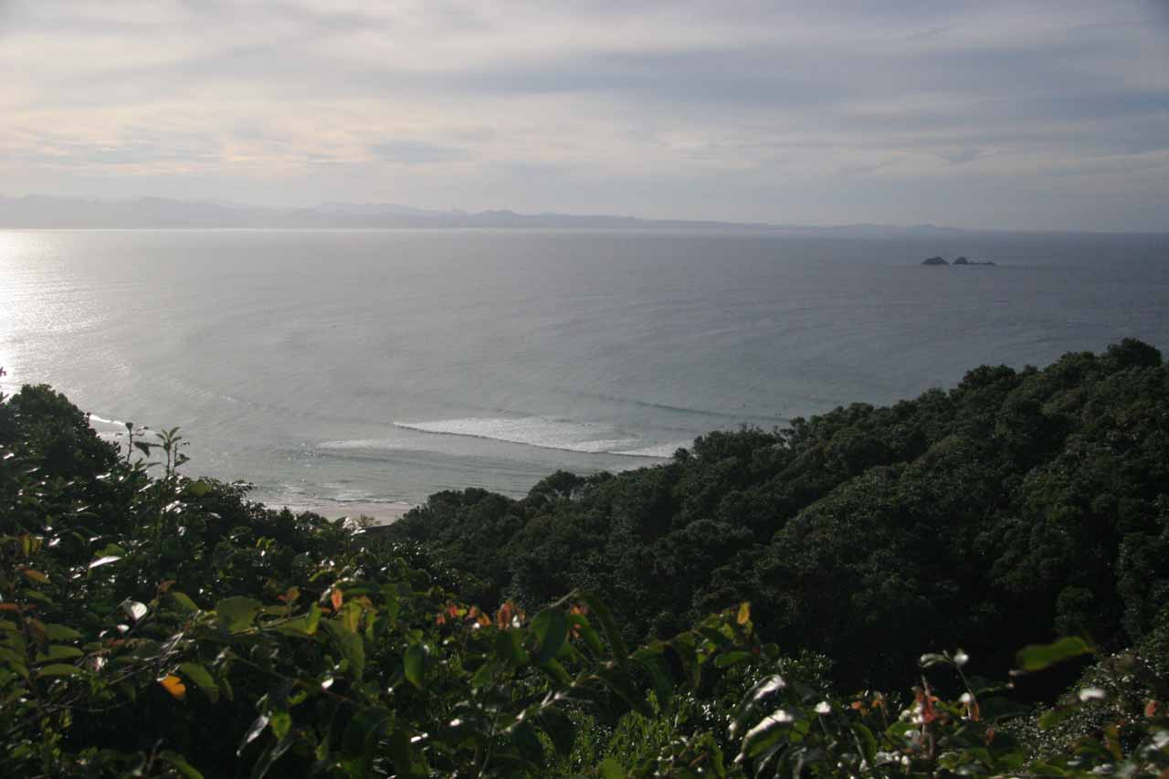 Looking towards the Pacific Ocean