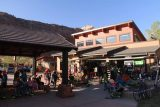 Cable_Mountain_Lodge_078_04042018 - Looking back at the busy shuttle stop and Canyon Outfitters at the Canyon Village Marketplace near Cable Mountain Lodge