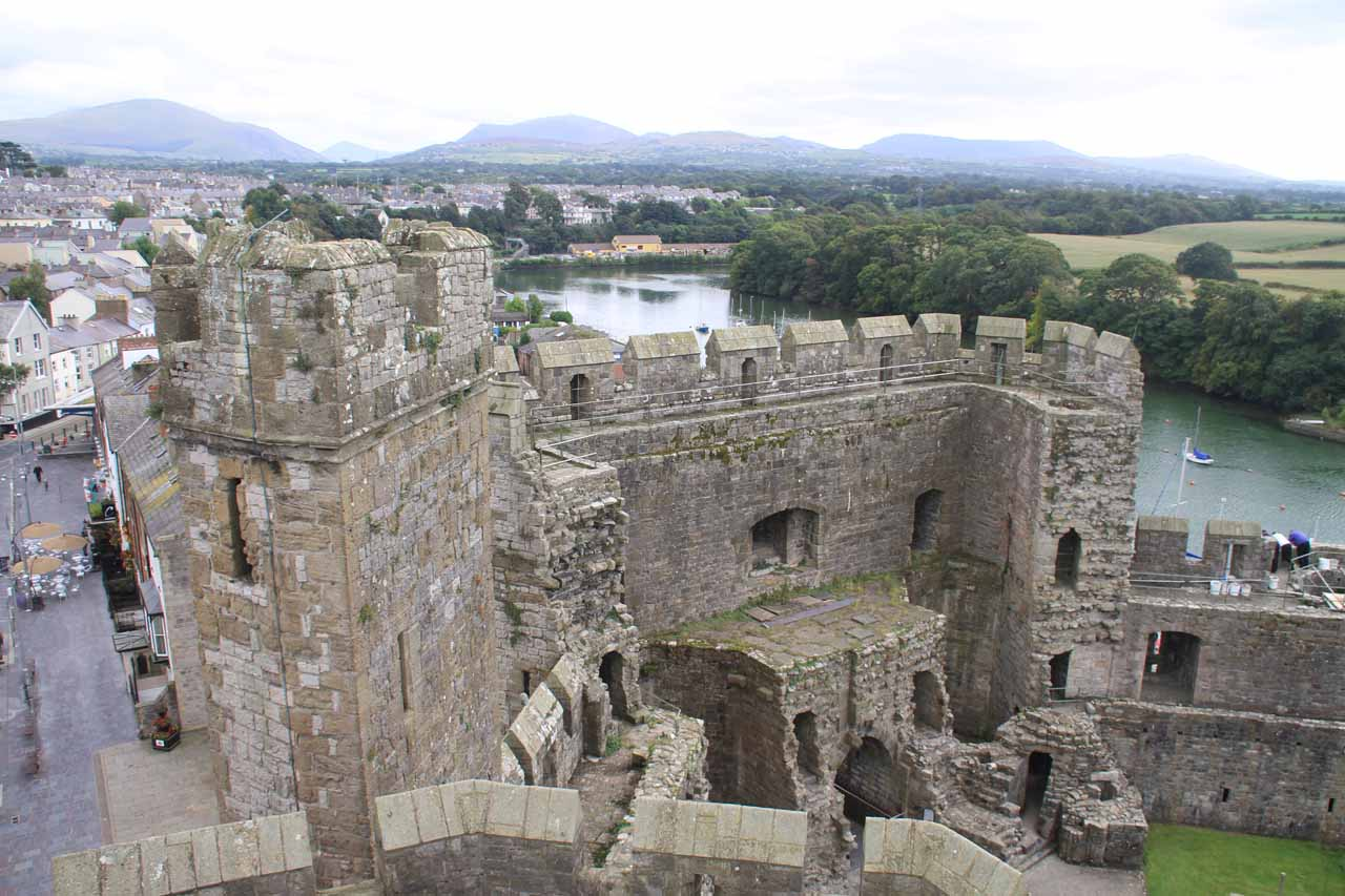 Although this wasn't on the way between Conwy and Conwy Falls, Caernarfon Castle was also a worthwhile UNESCO castle well worth a stop some 23 miles west of Conwy or 45 minutes