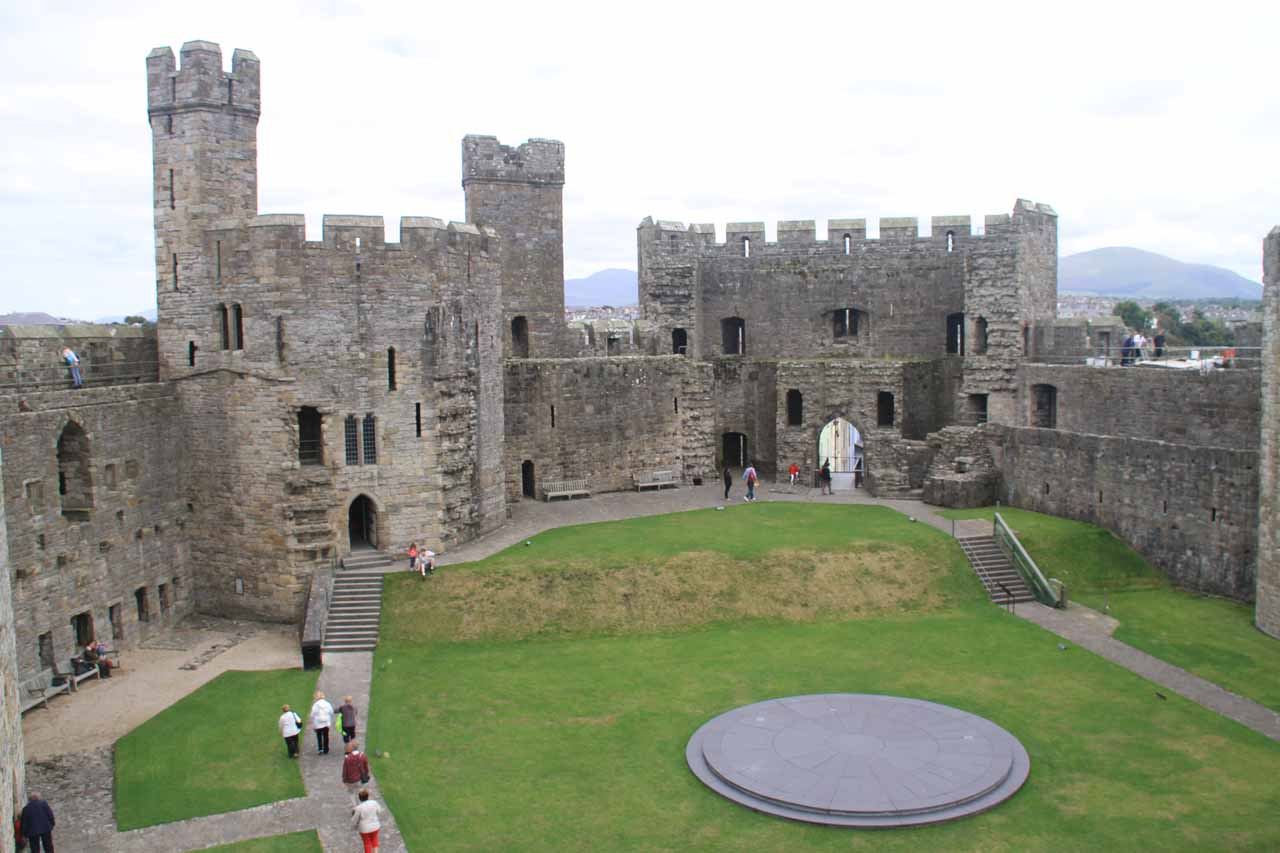 Not to be outdone, Caernarfon Castle (some 23 miles west of conwy) with its more polygonal towers was equally as impressive as Conwy Castle
