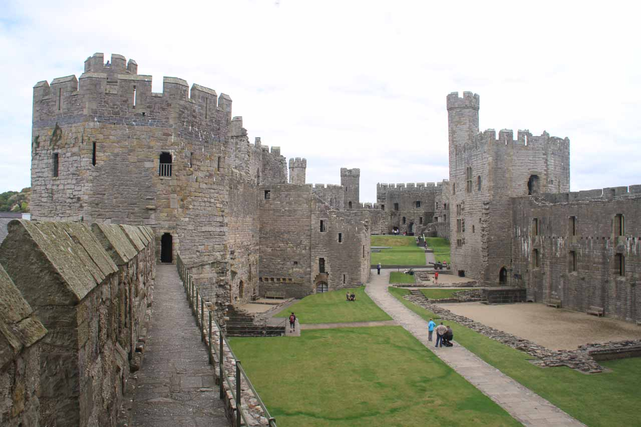 Although this wasn't on the way between Conwy and Swallow Falls, Caernarfon Castle was also a worthwhile UNESCO castle well worth a stop some 23 miles west of Conwy or 45 minutes