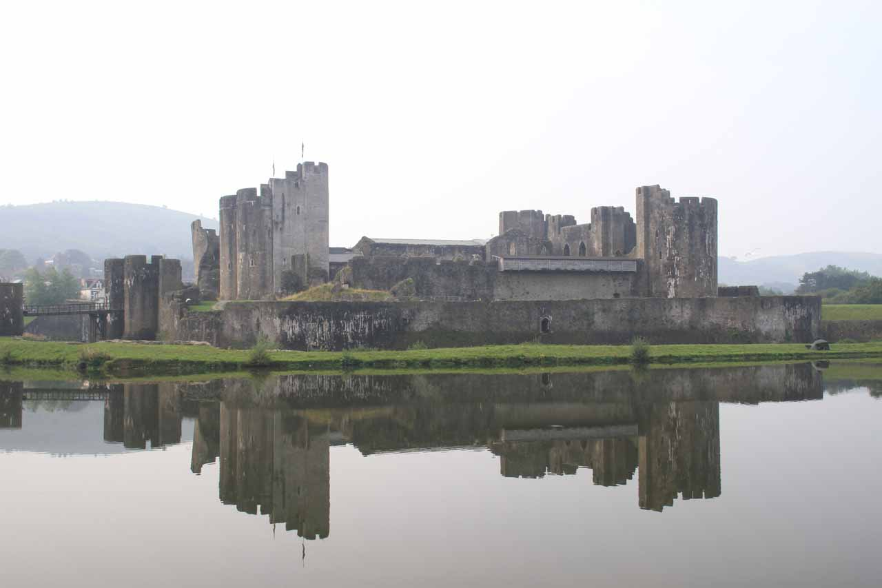 A short distance north of Cardiff was the Caerphilly Castle, which was a place where we were able to see the impressive preserved castle reflected in its calm moat