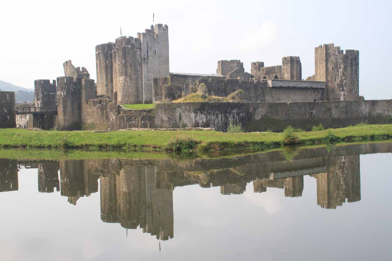 Just north of Cardiff was the town of Caerphilly, which was known for the well-preserved Caerphilly Castle, and as you can see here, it was a very worthwhile diversion