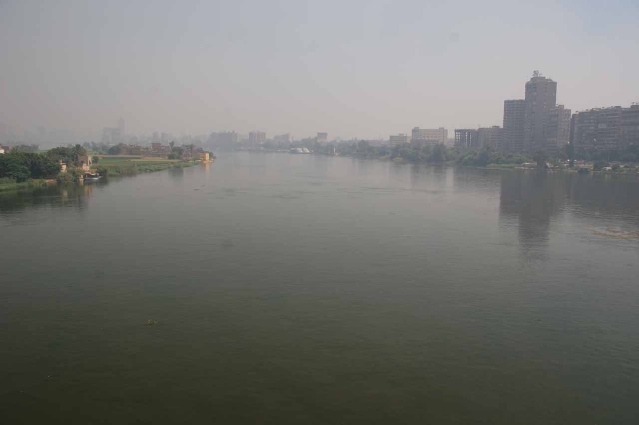 Nile River cutting through Cairo
