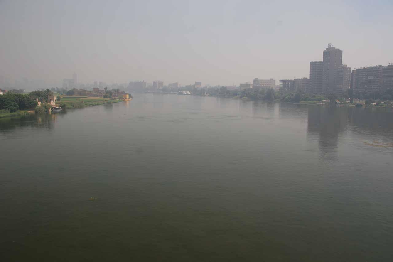 Nile River cutting through Cairo