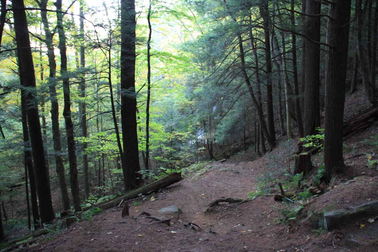 The remainder of the descent headed right for the base of Campbell Falls