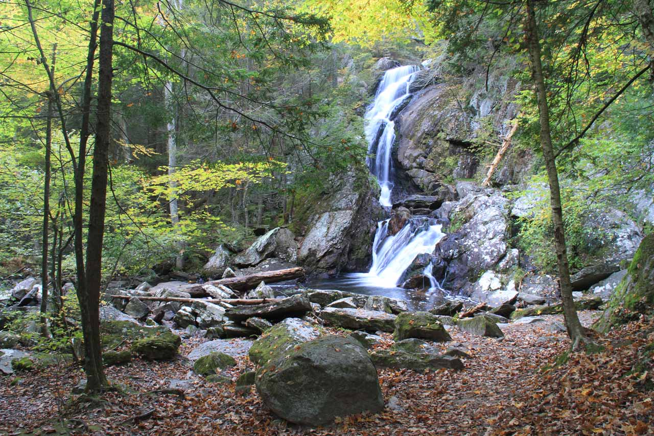 View of Campbell Falls when the descent ended