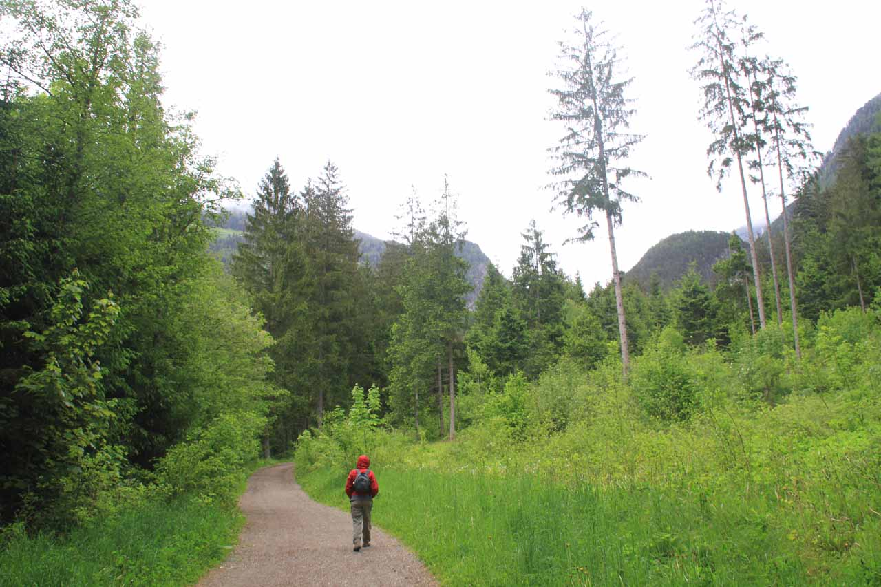 Julie on the beginning of the trail where we were back to Nature once again