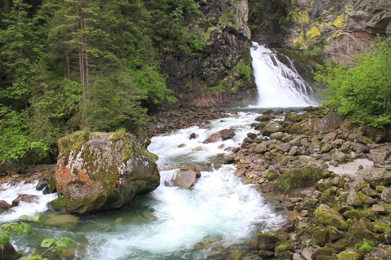 The first of the Riva Waterfalls